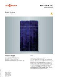 Datos técnicos Vitovolt 200 P245QA, P250QA y ... - Viessmann
