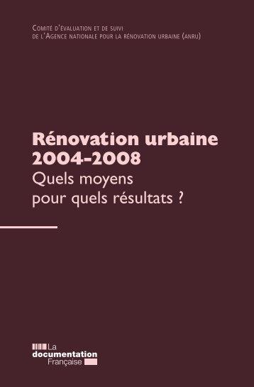 Rénovation urbaine 2004-2008 - Anru