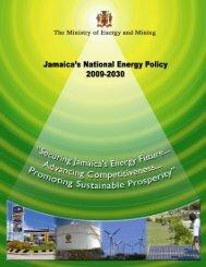 Jamaica National Energy Policy 2009 – 2030