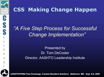 A Five Step Process for Successful Change Implementation