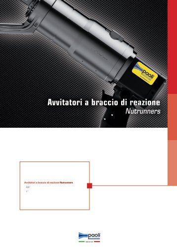 Avvitatori a braccio di reazione - Azienda in fiera