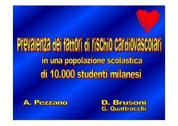 Prevalenza dei fattori di rischio cardiovascolari in una popolazione ...