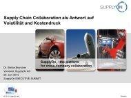 Supply Chain Collaboration als Antwort auf Volatilität ... - SupplyOn
