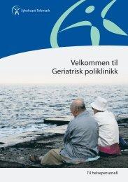 Geriatrisk Poliklinikk til helsepersonell - Sykehuset Telemark