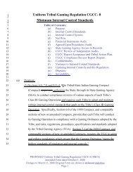 Uniform Tribal Gaming Regulation CGCC- 8 - California Gambling ...