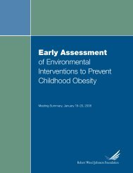 Early Assessment of Environmental Interventions to Prevent ... - folio