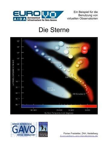 Die Sterne (Farbe und Helligkeiten: Das Hertzsprung ... - INAF-OAT