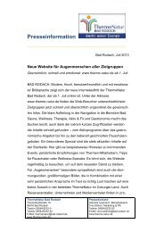 Pressedienst Juli 2013 - therme Natur Bad Rodach