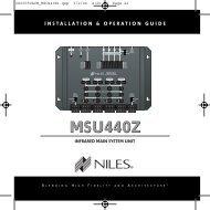 MSU440Z Manual - Electronic Warehouse
