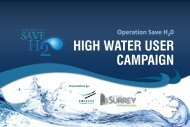 OPERATION SAVE H2O – HIGH WATER USER CAMPAIGN Year ...