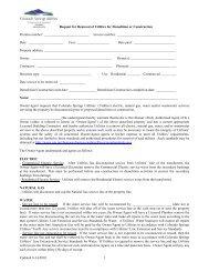 Removal of Utilities Request - Colorado Springs Utilities