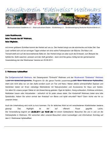 18.09.2011 - Musikverein Weitmars