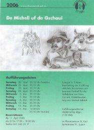 das programmheft - Theatergruppe St. Karl