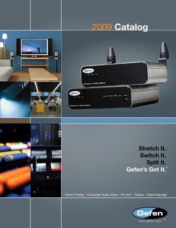 2009 Catalog - Gefen