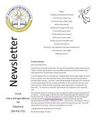 School Info - St Elizabeth Seton - Edmonton Catholic Schools