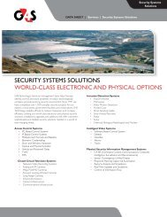 Security Systems Solutions data sheet 2011.indd - G4S Technology