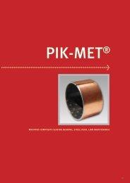 wrapped composite sliding bearing, steel/peek, low-maintenance