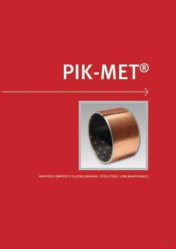 wrapped composite sliding bearing, steel/peek, low-maintenance