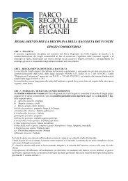 Regolamento raccolta funghi epigei commestibili - Parco Regionale ...