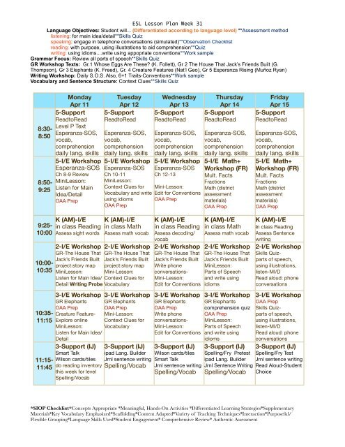 ESL Lesson Plan Week 31 pdf - eslriverside