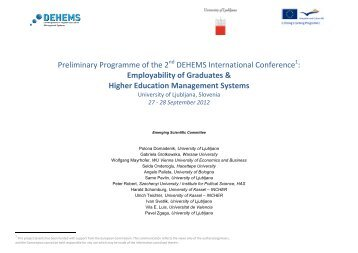 Preliminary Programme of the 2 DEHEMS International Conference ...