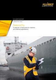 English brochure (pdf-file, 1,07 MB) - Klüber Lubrication