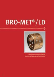wrapped bronze sliding bearing, perforations, sealing, low ...