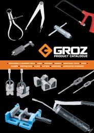 GROZ Product Catalogue - Industrial and Bearing Supplies