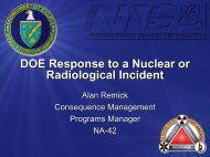DOE Response to a Nuclear or Radiological Incident - U.S. National ...