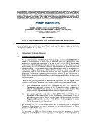 1 CIMC RAFFLES OFFSHORE (SINGAPORE) LIMITED ...