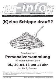 (K)eine Schippe drauf!? - Personalrat Schulen Bremen
