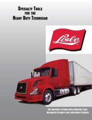 Specialty toolS for the heavy Duty technician - Lisle Corporation