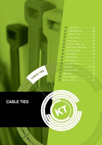 CABLE TIES - KT Cables