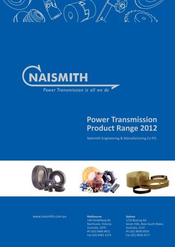 Power Transmission Product Range 2012 - Industrial and Bearing ...