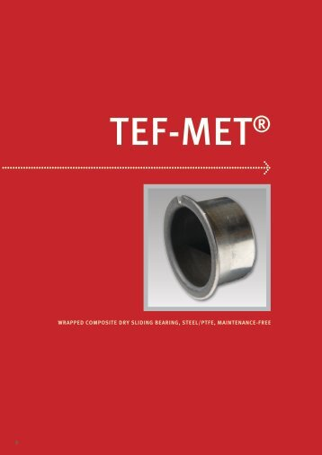 wrapped composite dry sliding bearing, steel/ptfe, maintenance-free