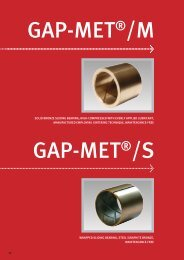 solid bronze sliding bearing, high-compressed with evenly applied ...