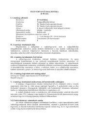 FEGYVERTAN ÉS BALLISZTIKA (E 90-121) I. A tantárgy jellemzői ...