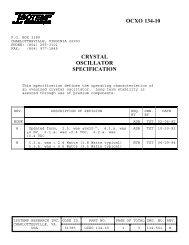 OCXO 134-10 CRYSTAL OSCILLATOR SPECIFICATION - isotemp