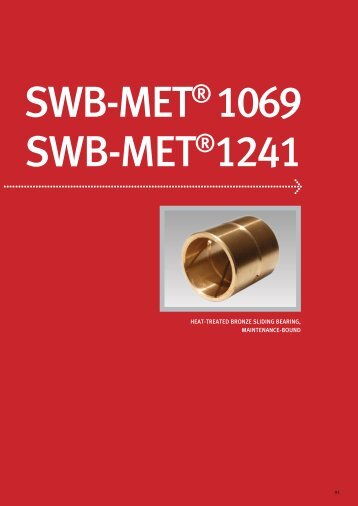heat-treated bronze sliding bearing, maintenance-bound