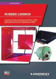 RUBBER LININGS - Industrial and Bearing Supplies