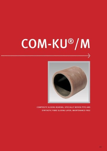 composite sliding bearing, specially woven ptfe and synthetic fibre ...