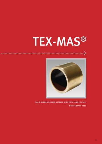 solid turned sliding bearing with ptfe-fabric-layer, maintenance-free