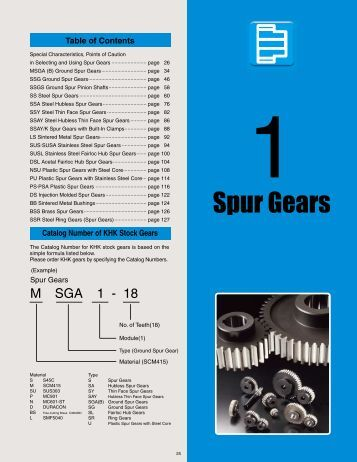 SSG Ground Spur Gears - Industrial and Bearing Supplies