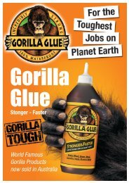 World Famous Gorilla Products now sold in Australia - Industrial and ...