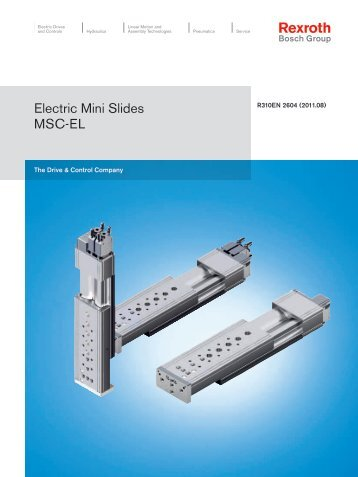 Electric Mini Slides MSC-EL - Industrial and Bearing Supplies