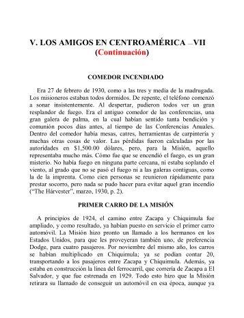 V. Los Amigos en Centro América VII - Instituto ALMA