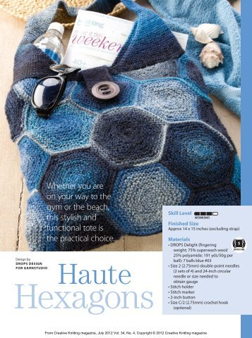 haute hexagons - Creative Knitting