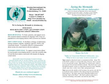 Dive into Earth Day.pub - Sirenian International