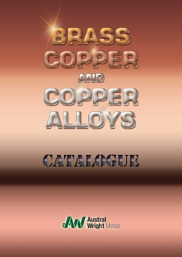 AUSTRAL WRIGHT Copper, Brass & Bronze Catalogue