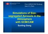 model description - AeroCom